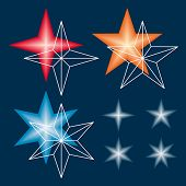 Template for making gradient stars from vector meshes.