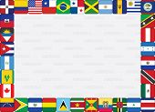 American Countries Flag Icons Frame