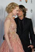 LOS ANGELES - JAN 12:  Nicole Kidman, Keith Urban arrives at the 2013 G'Day USA Los Angeles Black Tie Gala at JW Marriott on January 12, 2013 in Los Angeles, CA..