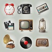 9 highly detailed retro-styled objects