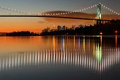 image of inlet  - Dawn in Vancouver with the Lion - JPG