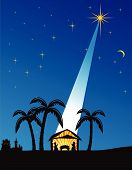 stock photo of nativity scene  - Christmas nativity scene - JPG
