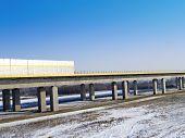 Motorway A1 bridge across the River Vistula