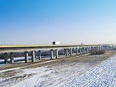 A1 of motorways bridge across a river wis?a
