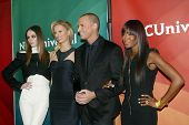 PASADENA, CA - JAN. 7: Coco Rocha, Karolina Kurkova, Nigel Barker and Naomi Campbell arrive at the N
