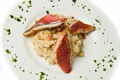 rice with red mullet and seafood