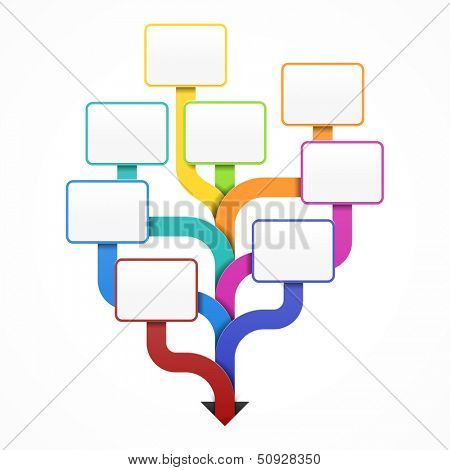 Blank Business Tree Template For Design Infographics Or