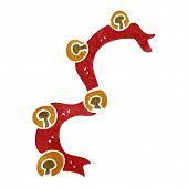 retro cartoon sleigh bells
