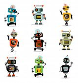 stock photo of monsters  - Little Robots set 3 - JPG
