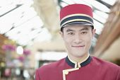 Portrait of Bellhop, Close-Up