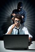 stock photo of informatics  - Informatics spy concept - JPG