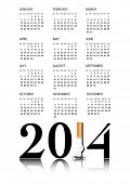 New Year resolution Quit Smoking Calendar with the 1 in 2014 being replaced by a stubbed out cigarette. Also available in vector format.