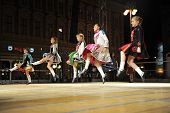 ZAGREB,CROATIA - JULY 18: Members of folk groups O'Shea-Ryan Irish Dancers from Australia during the
