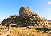 picture of megaliths  - Ancient megalithic Nuraghe Santu Antine in Sardinia - JPG