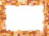 Toy Bricks Picture Frame - Orange