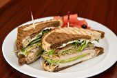 Turkey On Rye Sandwich