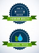 stock photo of water-saving  - Blue water drops sticker - JPG