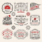 Vintage style Christmas labels