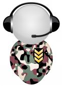 Headphone Sign Body Military