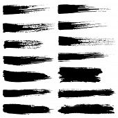 pic of stroking  - Vector set of grunge watercolor brush strokes - JPG
