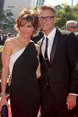 LOS ANGELES - SEP 15:  Lisa Rinna, Harry Hamlin at the Creative Emmys 2013 - Arrivals at Nokia Theat