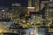 SAN FRANCISCO, CALIFORNIA - JAN 13:  View of San Francisco's Nob Hill tourist district.  The city's
