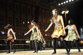 ZAGREB,CROATIA - JULY 18: Members of folk groups O'Shea-Ryan Irish Dancers from Australia during the 47th International Folklore Festival in center of Zagreb,Croatia on July 18,2013
