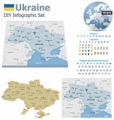 Ukraine maps with markers