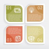 Modern Design template  for infographics or website. Vector illustration.