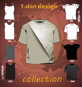 T-shirts design template. Vector