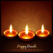 beautiful diwali festival diya background