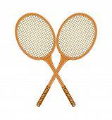 Two crossed tennis rackets