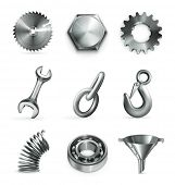 Industry, set of vector icons