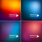 Abstrait triangle milieux set II - eps10