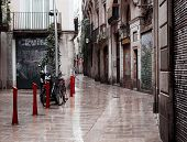 BARCELONA, CATALONIA - June 08: Old streets of Barrio Gotico in June 08, 2013 in Barcelona, Cataloni
