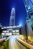 Hong Kong city with roadway