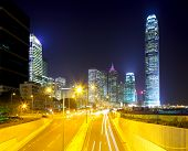 Hong Kong cityscape and roadway