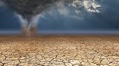 stock photo of sandstorms  - Desert Dust Devil - JPG
