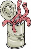 stock photo of proverb  - Cartoon Humor Concept Illustration of Can of Worms Saying or Proverb - JPG