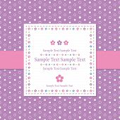 violet polka dot greeting card
