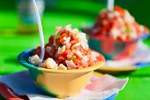 picture of conch  - Two bowls of Bahamian conch salad - JPG