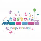 happy birthday train card