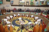 YAZD, IRAN - NOVEMBER 29, 2007:  Pahlevani and zoorkhaneh rituals.Traditional Iranian system of athletics originally used to train warriors.