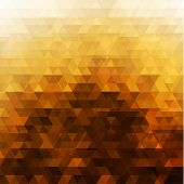 Abstract shiny golden mosaic background - raster version