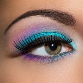 Eye. Beautiful, colorful makeup