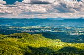 View Of The Shenandoah Valley And Appalachian Mountains From The Mill Mountain Trail On Great North