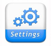 settings button cogwheel gear mechanism change or reset sign default setting icon