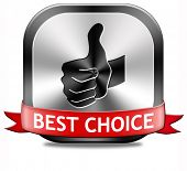 best choice top quality metal label best icon best product comparison button with text and word concept