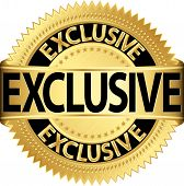 stock photo of exclusive  - Golden exclusive label exclusive gold vector illustration - JPG
