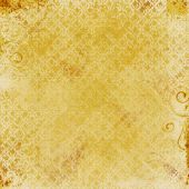 Gold Damask Print